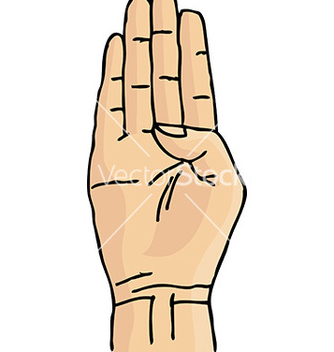 Free cartoon hand gesture vector - бесплатный vector #232931