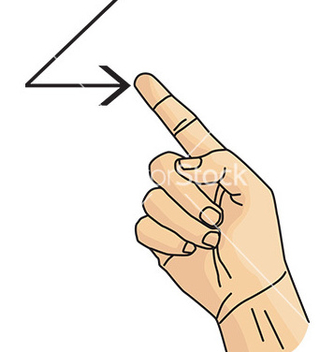 Free cartoon hand gesture vector - бесплатный vector #232971