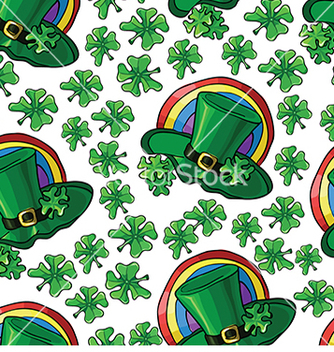 Free seamless pattern with green hats and shamrocks for vector - Free vector #232991
