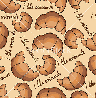 Free pattern with croissants vector - Free vector #233011
