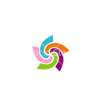 Free circle colorful spin logo vector - бесплатный vector #233081