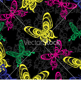 Free bright pattern with butterflies vector - Free vector #233171