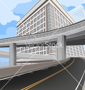 Free elevated road vector - vector gratuit #233191