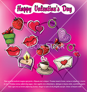 Free set of images for valentines day vector - vector gratuit #233241