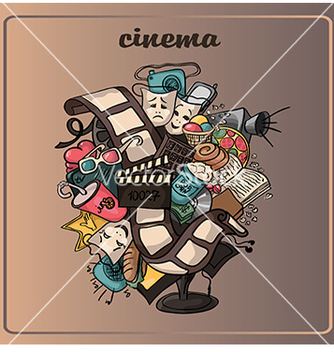 Free doodle of a movie vector - vector #233281 gratis