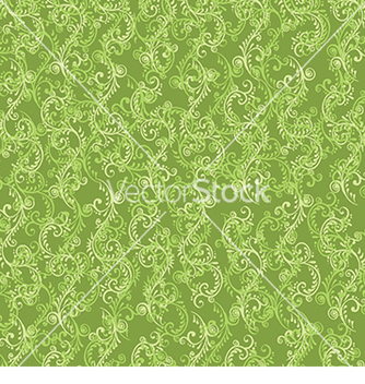 Free beautiful pattern with green floral pattern vector - Free vector #233291