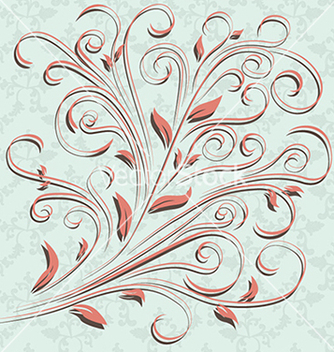 Free floral design element ornamental background vector - Free vector #233321