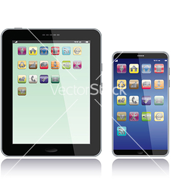 Free tablet pc and smart phone vector - Kostenloses vector #233341