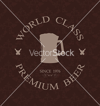Free vintage world class premium beer label stamp vector - Free vector #233381