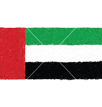 Free hand drawn of flag of united arab emirates vector - Free vector #233451