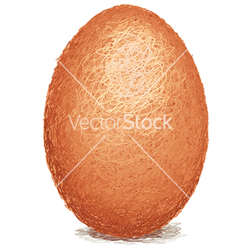 Free closeup of a raw white chicken egg isolated vector - Free vector #233571