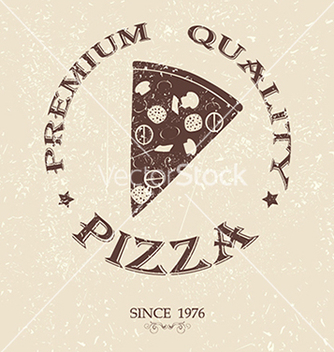 Free premium pizza vintage label stamp banner design vector - бесплатный vector #233581