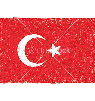 Free hand drawn of flag of turkey vector - Free vector #233611