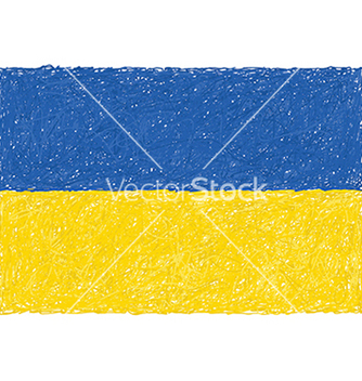 Free hand drawn of flag of ukraine vector - vector gratuit #233631