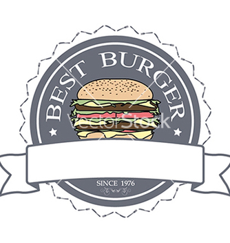 Free best burger label stamp banner design element vector - vector #233741 gratis