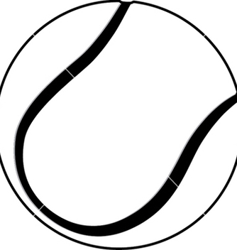 Free a tennis ball outline isolated in white background vector - vector gratuit #233831
