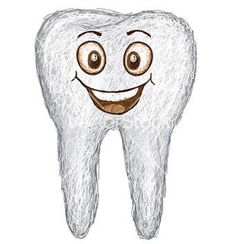 Free unique style of happy white tooth isolated in vector - Kostenloses vector #233851