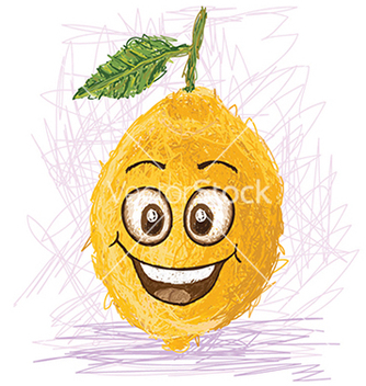Free happy lemon vector - vector gratuit #233861