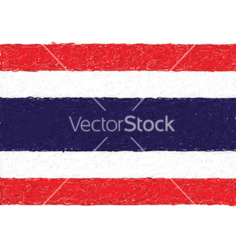 Free hand drawn of flag of thailand vector - бесплатный vector #233881