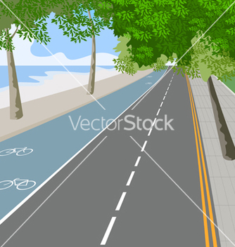 Free bike lane vector - Free vector #233971