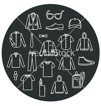 Free collection of mens clothes and accessories vector - бесплатный vector #234071