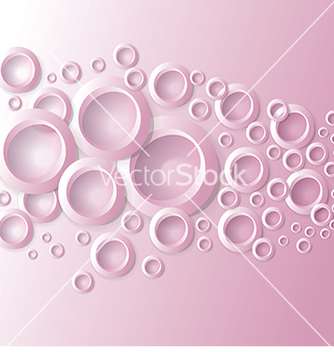 Free abstract background with circles on pink vector - vector #234081 gratis