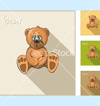 Free set of icons with a sedentary bear vector - Free vector #234091