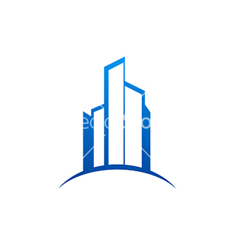 Free city building construction logo vector - Free vector #234181