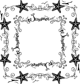 Free set of vintage summer frames vector - vector gratuit #234211