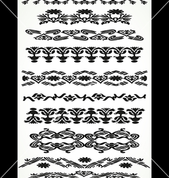 Free vintage border floral set seamless vector - Kostenloses vector #234301