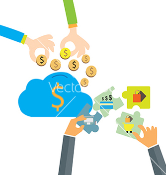 Free saving money to cloudcomputing businessman man vector - Free vector #234351