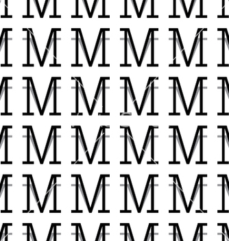 Free pattern letter m vector - Kostenloses vector #234381