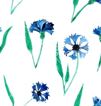 Free seamless pattern with cornflowers vector - Kostenloses vector #234451