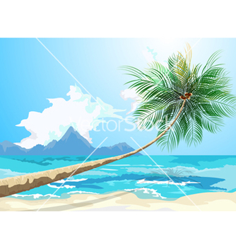 Free summer on the beach vector - vector gratuit #234551