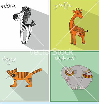 Free icons with african animals vector - vector #234571 gratis