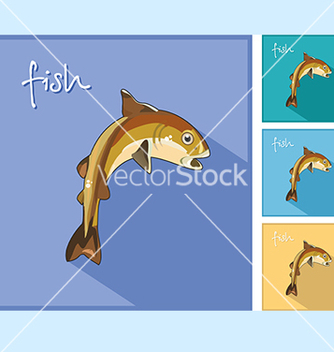 Free icon with the fish vector - бесплатный vector #234581