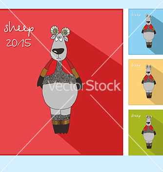 Free icon with a sheep vector - vector #234591 gratis