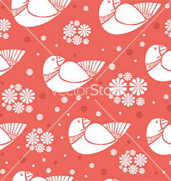 Free pattern with birds vector - vector #234641 gratis