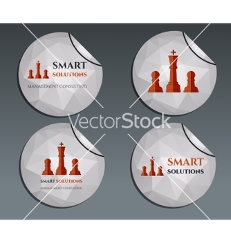 Free set of labels stickers chess smart solutions vector - Free vector #234731