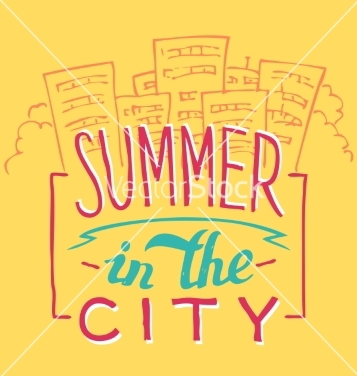 Free summer in the city handlettering vector - vector gratuit #234771