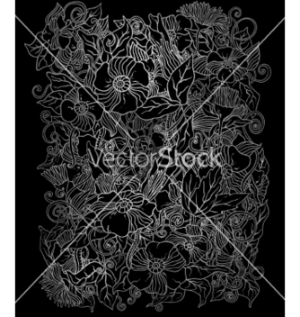 Free floral background hand drawn retro flowers vector - Free vector #234781