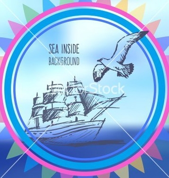 Free sea inside background vector - vector gratuit #234801