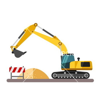 Free construction equipment and machinery excavator vector - Kostenloses vector #234881