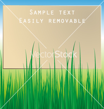 Free board with grass vector - vector gratuit #234911
