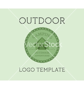 Free adventure outdoor tourism travel logo template vector - Free vector #234971