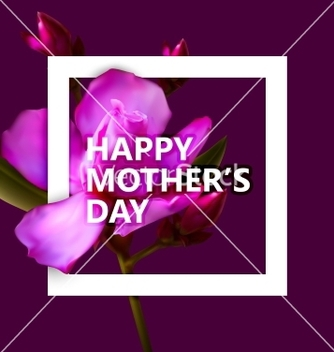 Free happy mothers day label with flowers vector - vector gratuit #235031