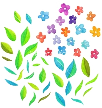 Free watercolor floral elements vector - Free vector #235181