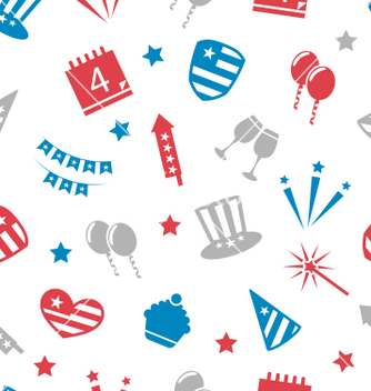 Free seamless pattern for independence day of america vector - Free vector #235191