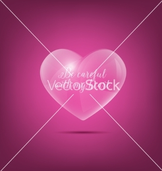 Free glass heart vector - vector gratuit #235231
