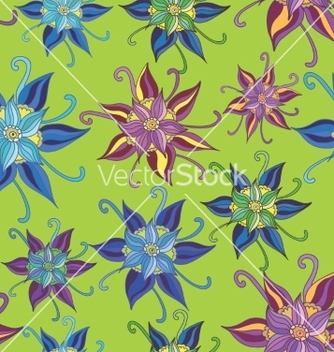 Free pattern with spring flowers vector - Free vector #235301